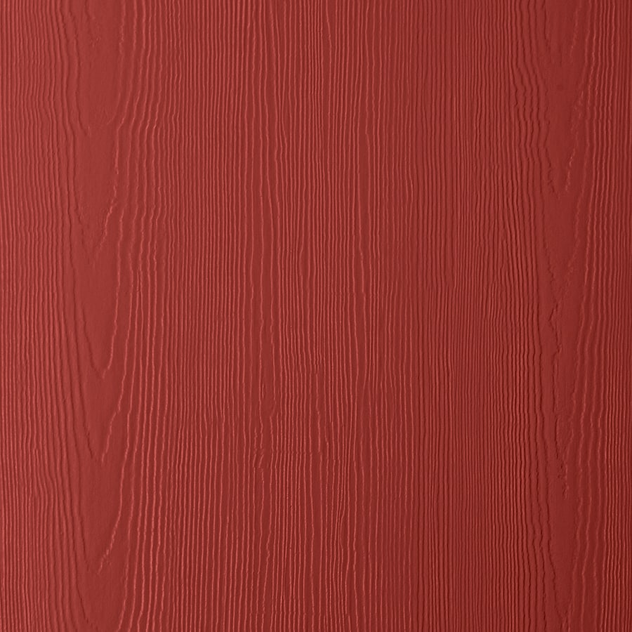 James Hardie (Actual: 0.312-in x 48-in x 96-in) HardiePanel Primed Traditional Red Cedarmill Vertical Fiber Cement Siding Panel
