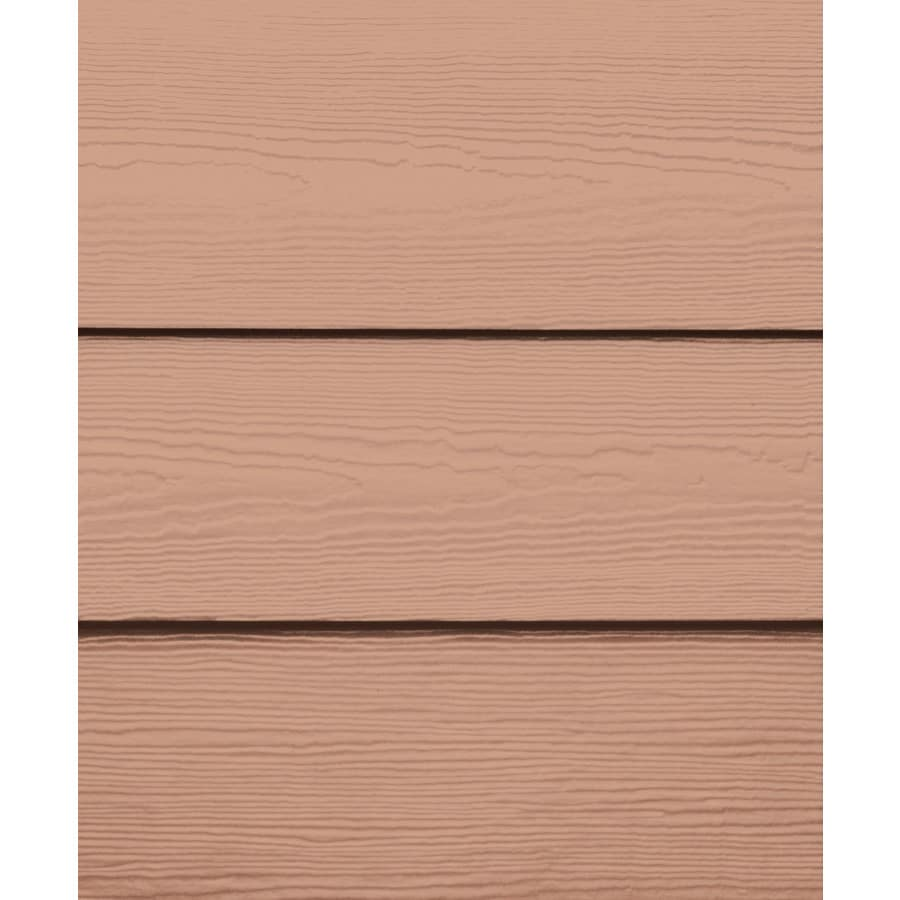 James Hardie HardiePlank Primed Terra Cotta Cedarmill Lap Fiber Cement Siding Panel (Actual: 0.312-in x 6.25-in x 144-in)