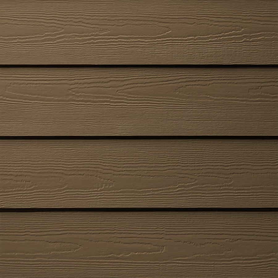James Hardie (Actual: 0.312-in x 6.25-in x 144-in) HardiePlank Primed Chestnut Brown Cedarmill Lap Fiber Cement Siding Panel