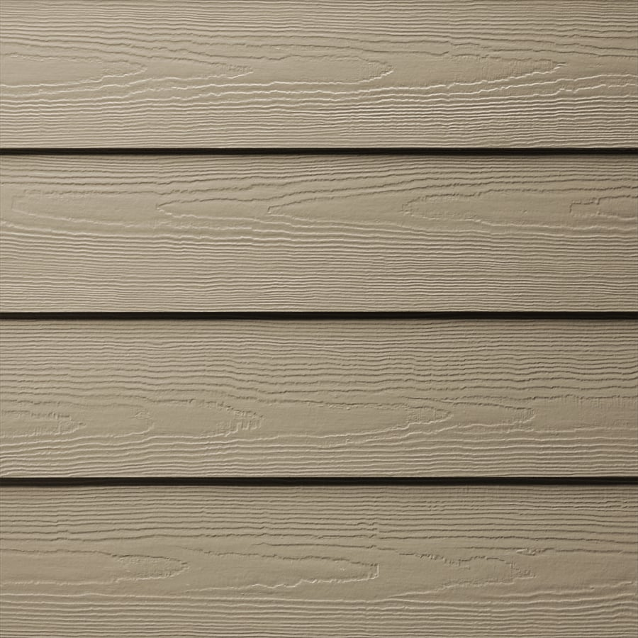 James Hardie (Actual: 0.312-in x 6.25-in x 144-in) HardiePlank Primed Khaki Brown Cedarmill Lap Fiber Cement Siding Panel