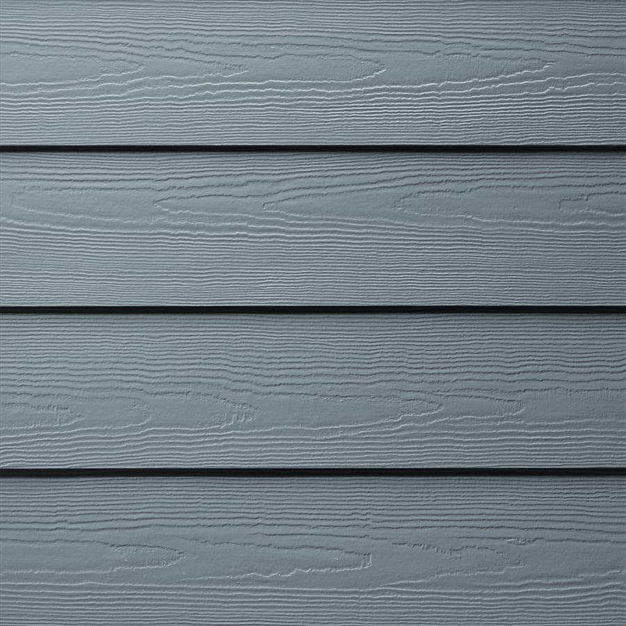 James Hardie HardiePlank Primed Boothbay Blue Cedarmill Lap Fiber Cement Siding Panel (Actual: 0.312-in x 6.25-in x 144-in)
