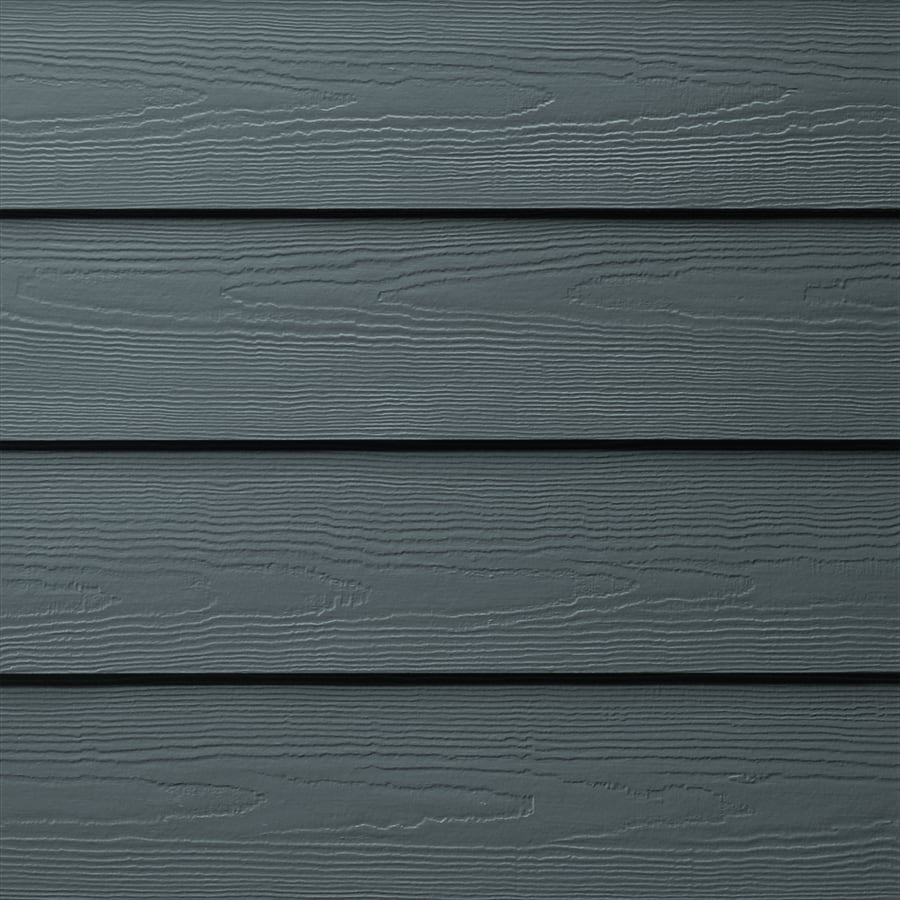 James Hardie (Actual: 0.312-in x 6.25-in x 144-in) HardiePlank Primed Evening Blue Cedarmill Lap Fiber Cement Siding Panel