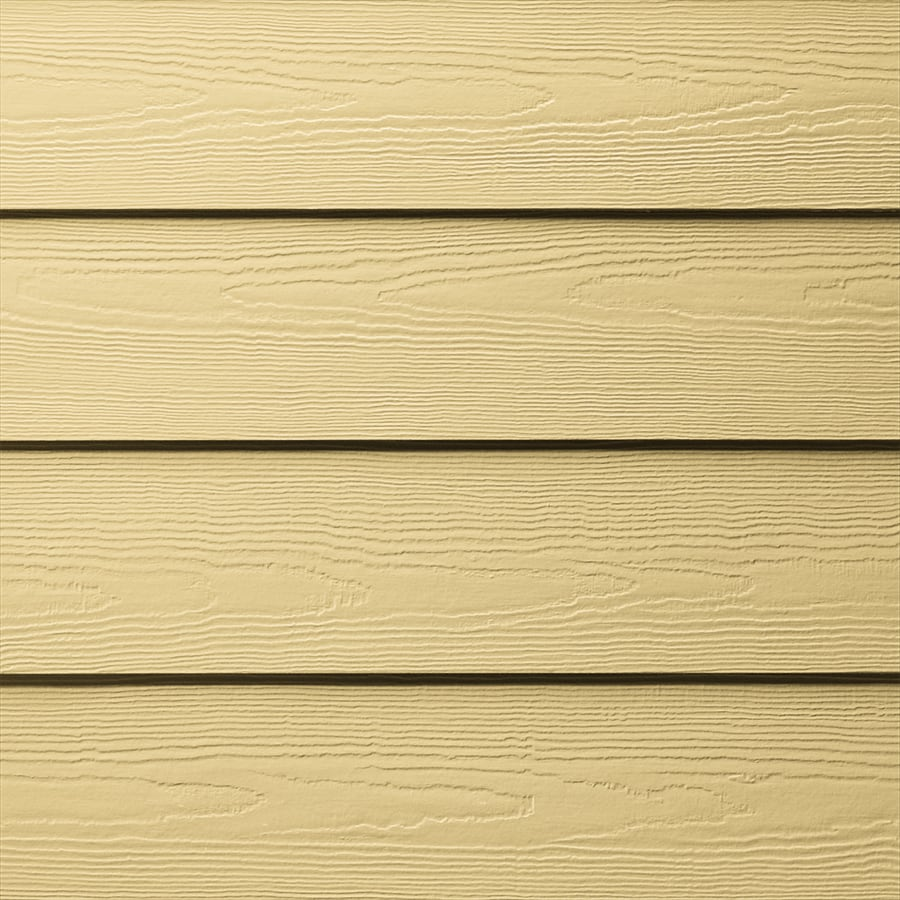 James Hardie HardiePlank Primed Harris Cream Cedarmill Lap Fiber Cement Siding Panel (Actual: 0.312-in x 6.25-in x 144-in)