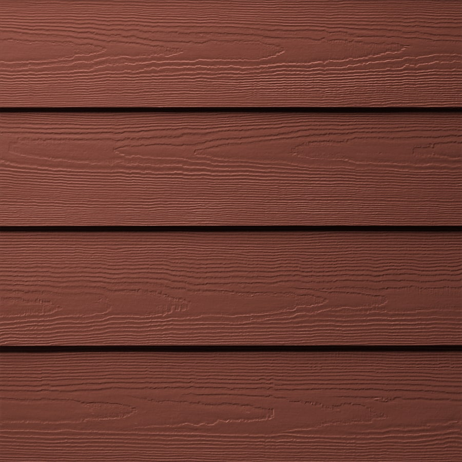 James Hardie (Actual: 0.312-in x 6.25-in x 144-in) HardiePlank Primed Traditional Red Cedarmill Lap Fiber Cement Siding Panel