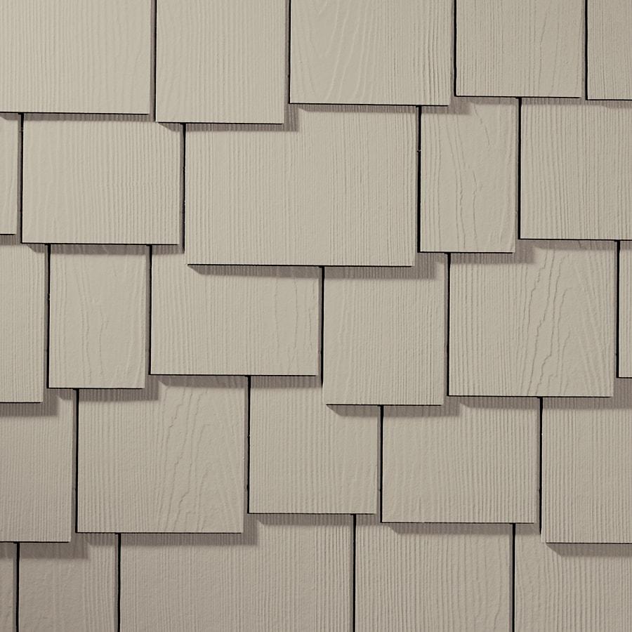 James Hardie HardieShingle 15.25-in x 48-in Primed Cobble Stone Woodgrain Fiber Cement Shingle Siding