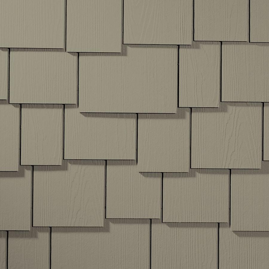 James Hardie Hardieshingle 15.25-in x 48-in Primed Monterey Taupe Woodgrain Fiber Cement Shingle Siding