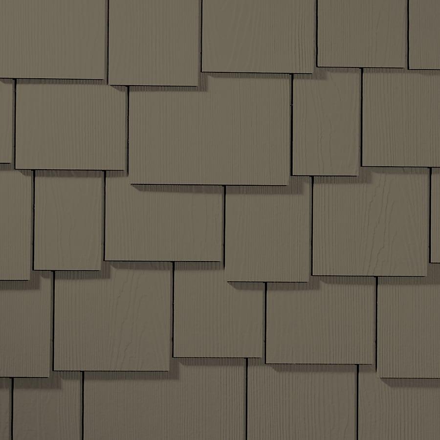 James Hardie 15.25-in x 48-in HardieShingle Primed Timber Bark Woodgrain Fiber Cement Shingle Siding