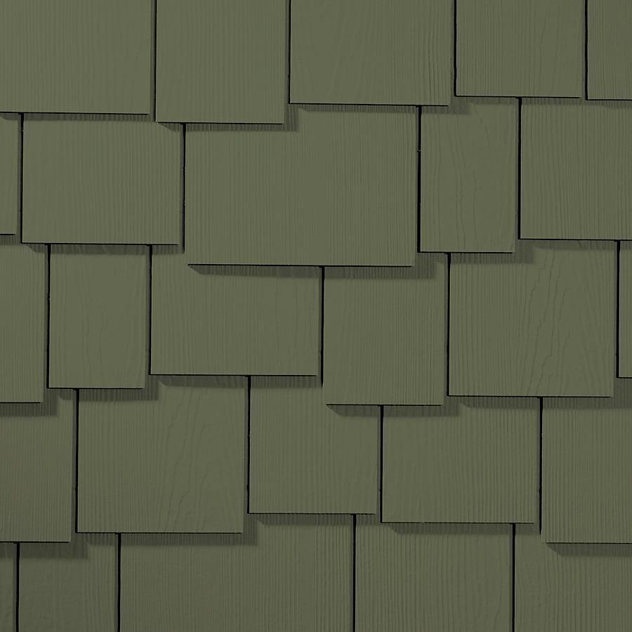 James Hardie 15.25-in x 48-in HardieShingle Primed Mountain Sage Woodgrain Fiber Cement Shingle Siding