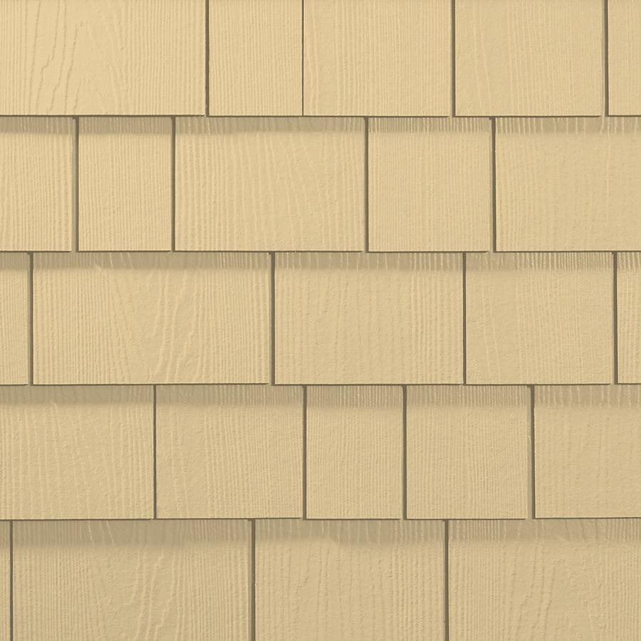 James Hardie 15.25-in x 48-in HardieShingle Primed Woodland Cream Woodgrain Fiber Cement Shingle Siding