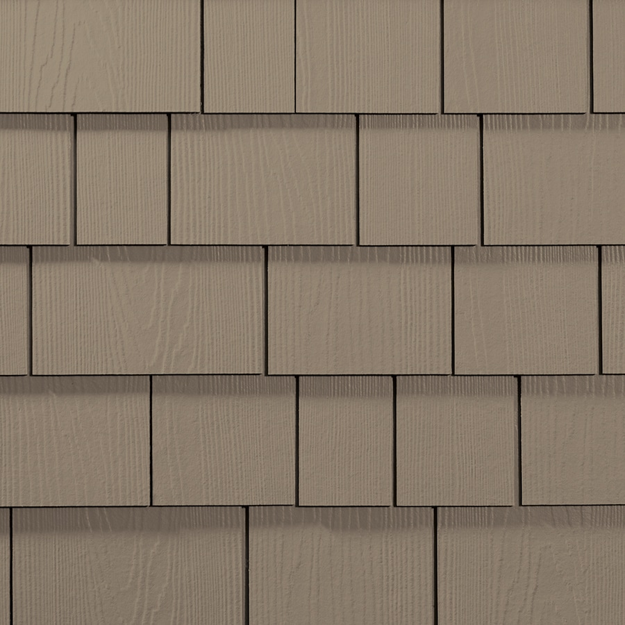 James Hardie HardieShingle 15.25-in x 48-in Primed Khaki Brown Woodgrain Fiber Cement Shingle Siding
