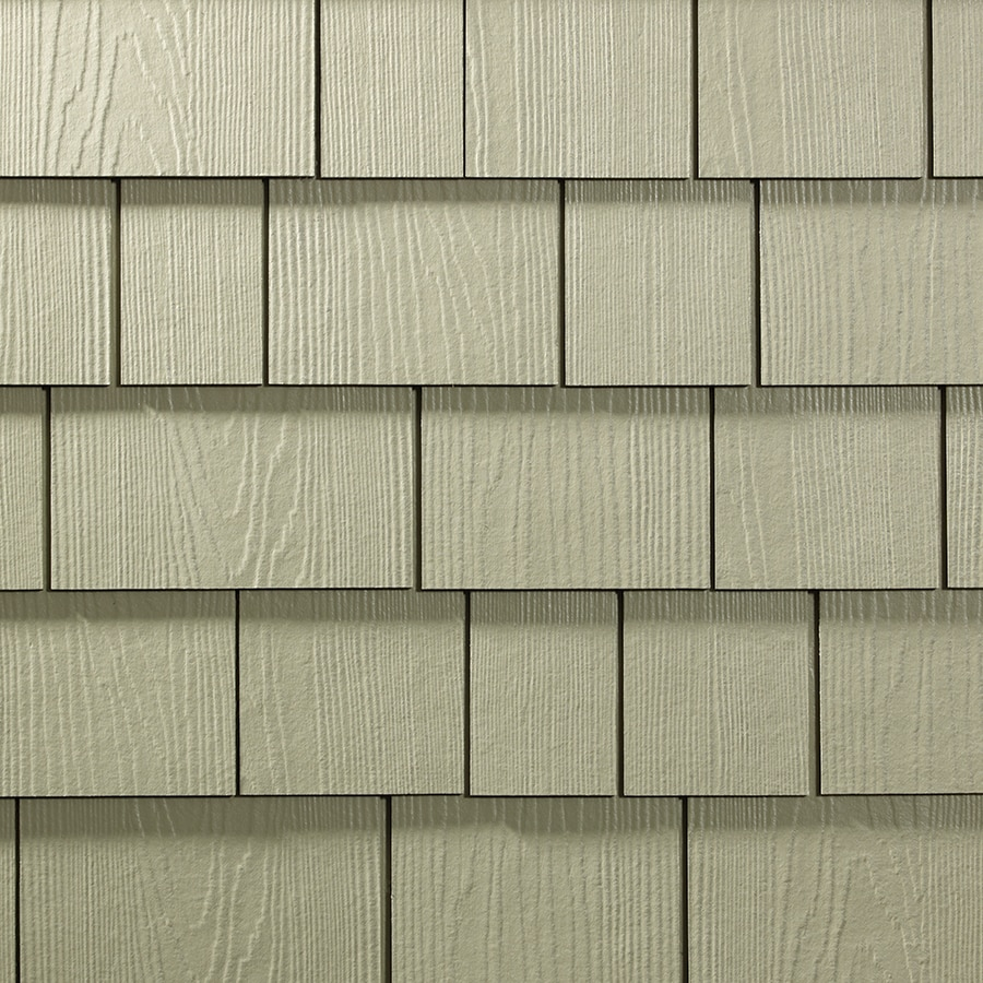 James Hardie 15.25-in x 48-in HardieShingle Primed Sandstone Beige Woodgrain Fiber Cement Shingle Siding