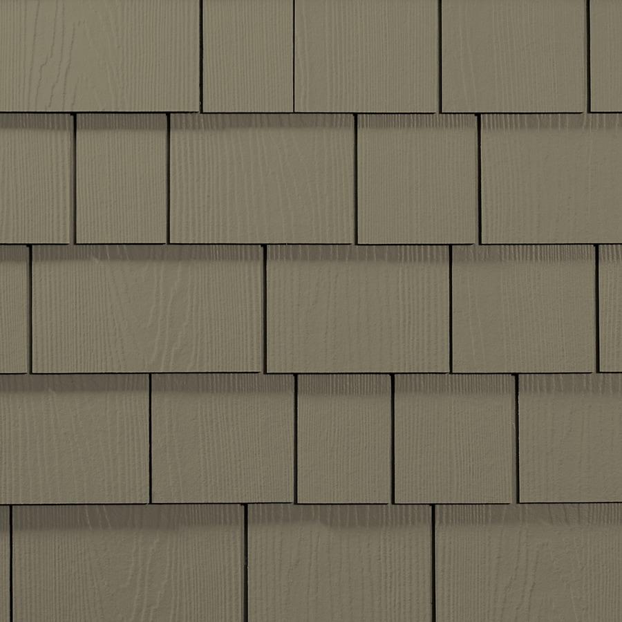 James Hardie 15.25-in x 48-in HardieShingle Primed Woodstock Brown Woodgrain Fiber Cement Shingle Siding