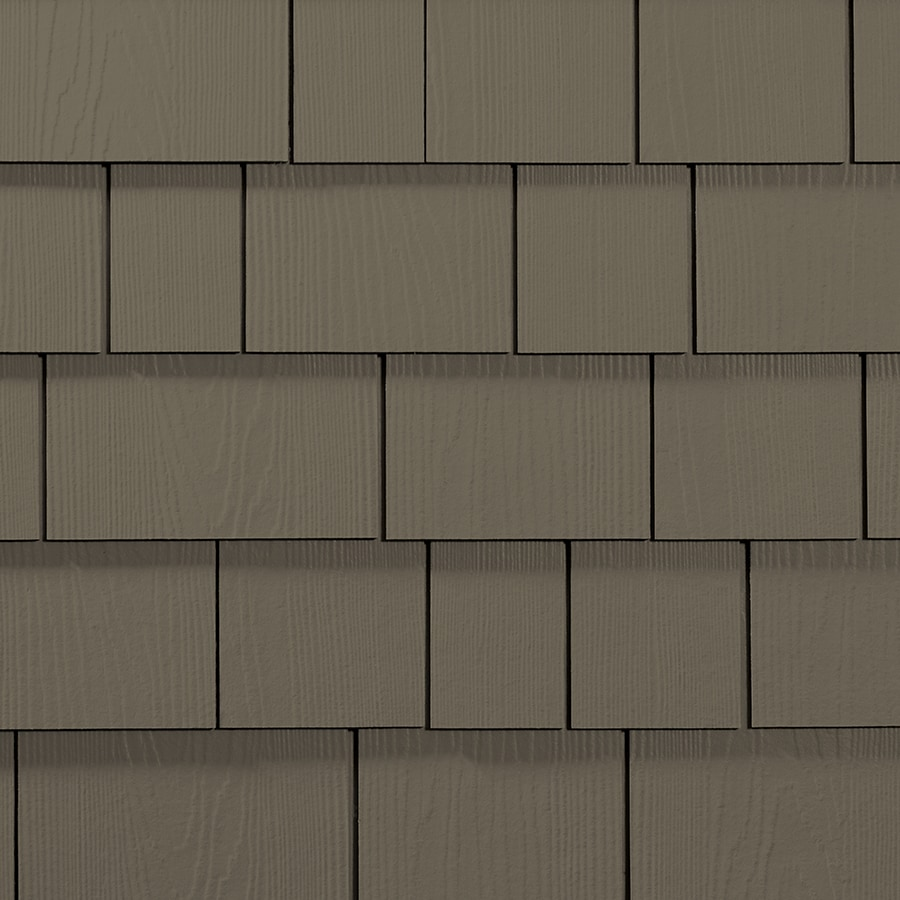 James Hardie 15.25-in x 48-in HardieShingle Primed Timber Bark Woodgrain Fiber Cement Shingle Siding