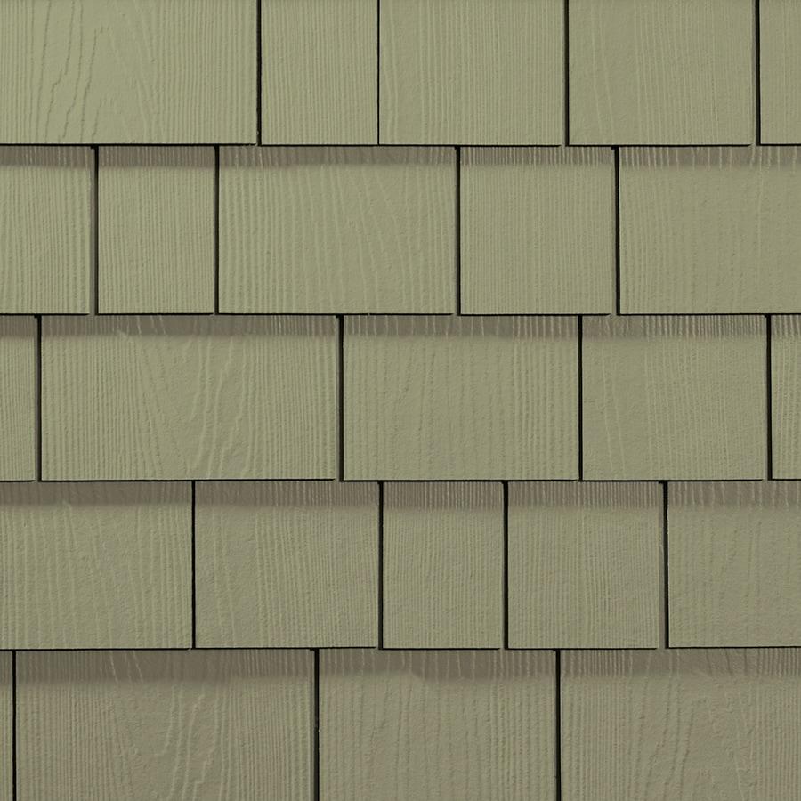 James Hardie HardieShingle 15.25-in x 48-in Primed Heathered Moss Woodgrain Fiber Cement Shingle Siding