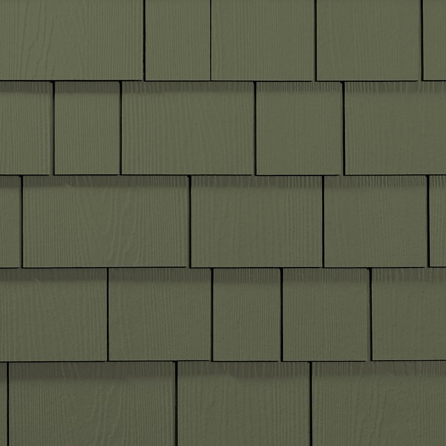 James Hardie HardieShingle 15.25-in x 48-in Primed Mountain Sage Woodgrain Fiber Cement Shingle Siding