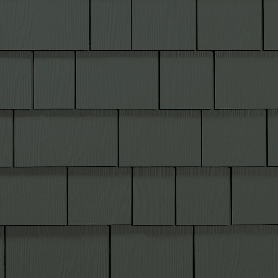 James Hardie 15.25-in x 48-in HardieShingle Primed Iron Gray Woodgrain Fiber Cement Shingle Siding