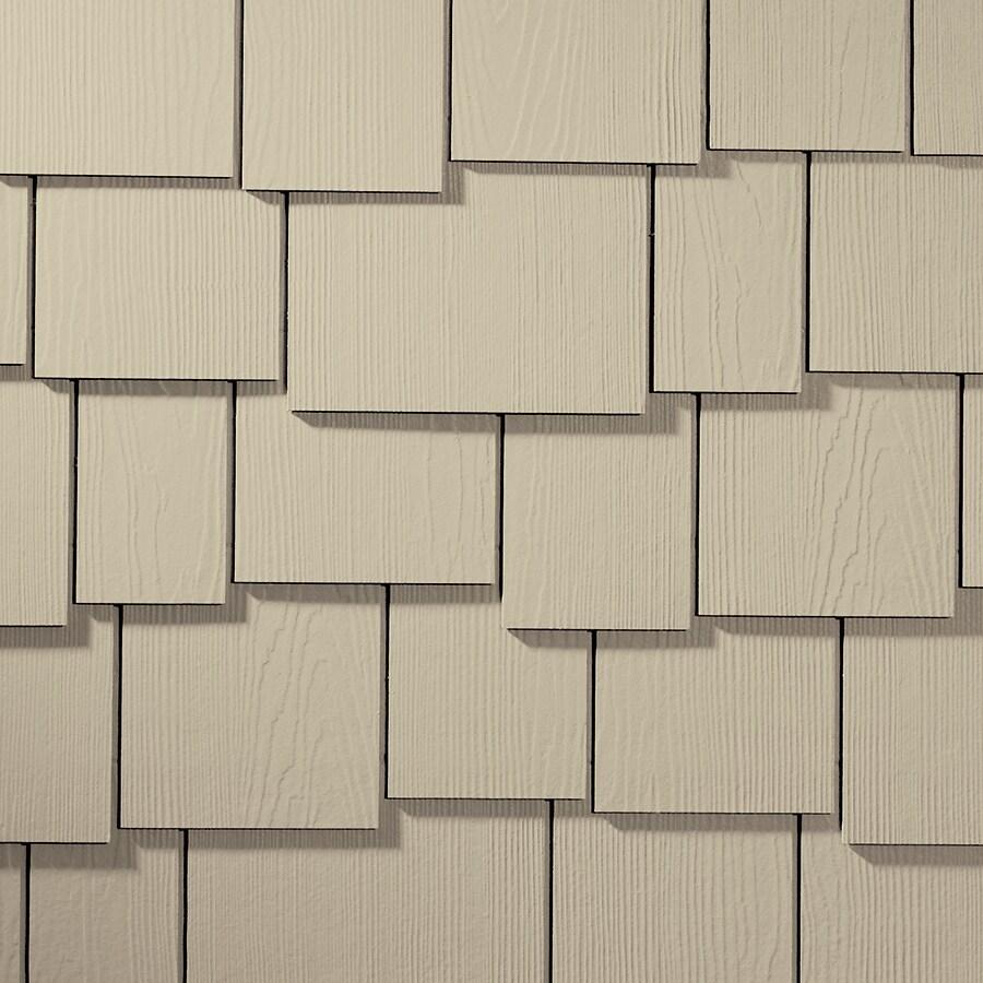 James Hardie HardieShingle 15.25-in x 48-in Primed Navajo Beige Woodgrain Fiber Cement Shingle Siding
