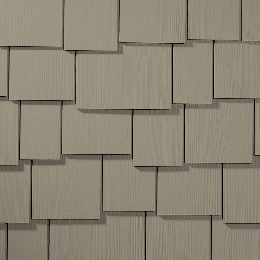 James Hardie Hardieshingle 15.25-in x 48-in Primed Monterey Taupe Woodgrain Fiber Cement Shingle Siding