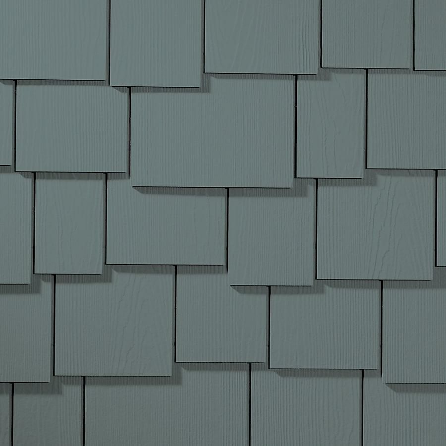 James Hardie 15.25-in x 48-in HardieShingle Primed Boothbay Blue Woodgrain Fiber Cement Shingle Siding