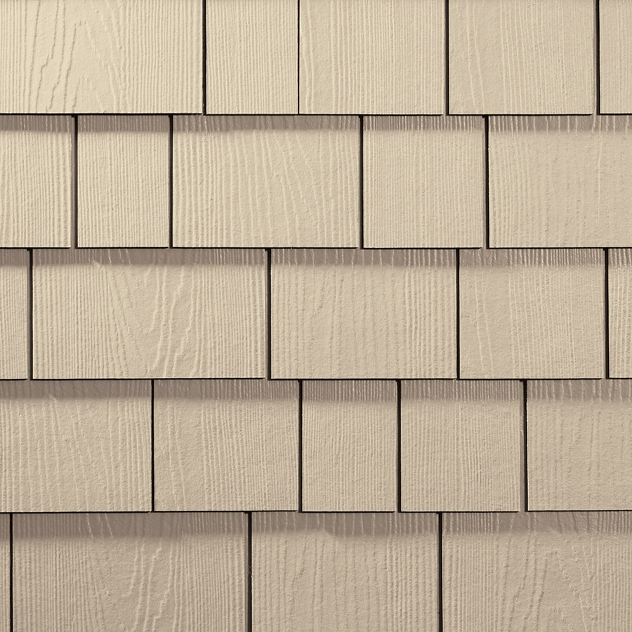 James Hardie HardieShingle 15.25-in x 48-in Primed Sail Cloth Woodgrain Fiber Cement Shingle Siding
