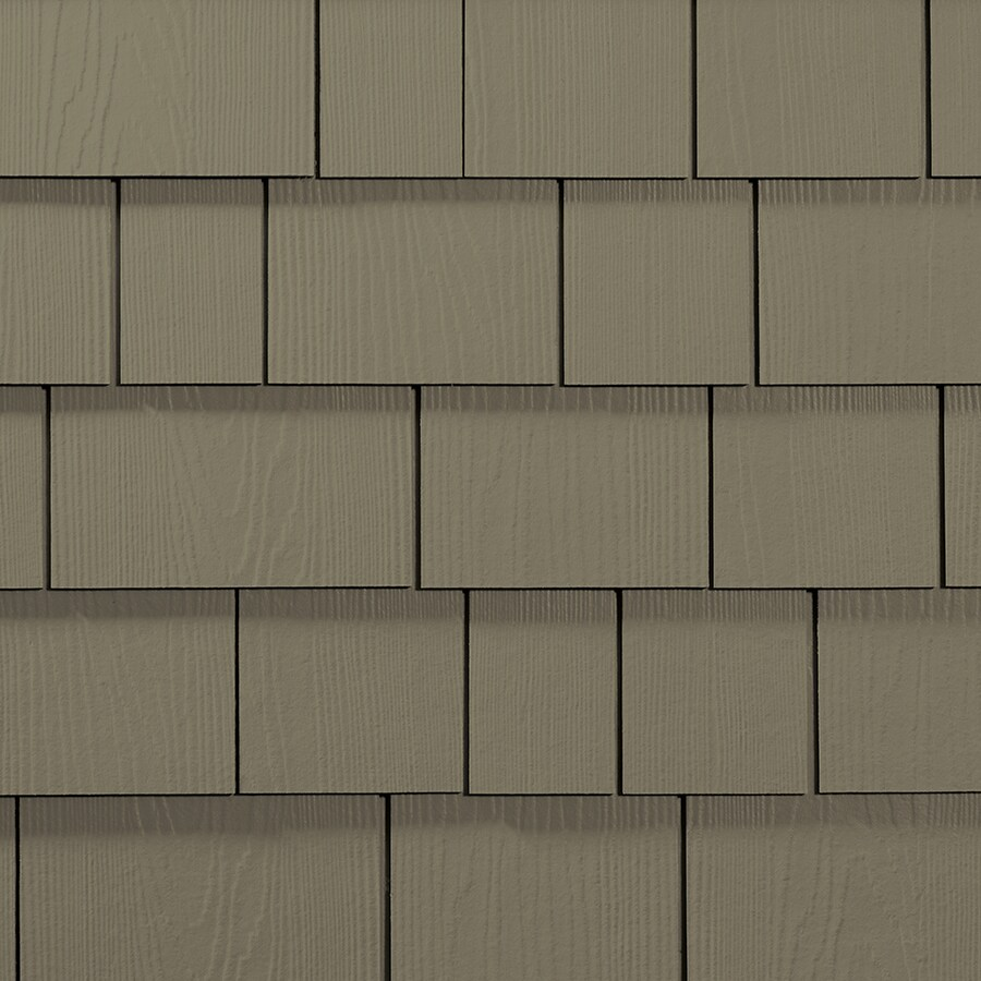 James Hardie HardieShingle 15.25-in x 48-in Primed Woodstock Brown Woodgrain Fiber Cement Shingle Siding