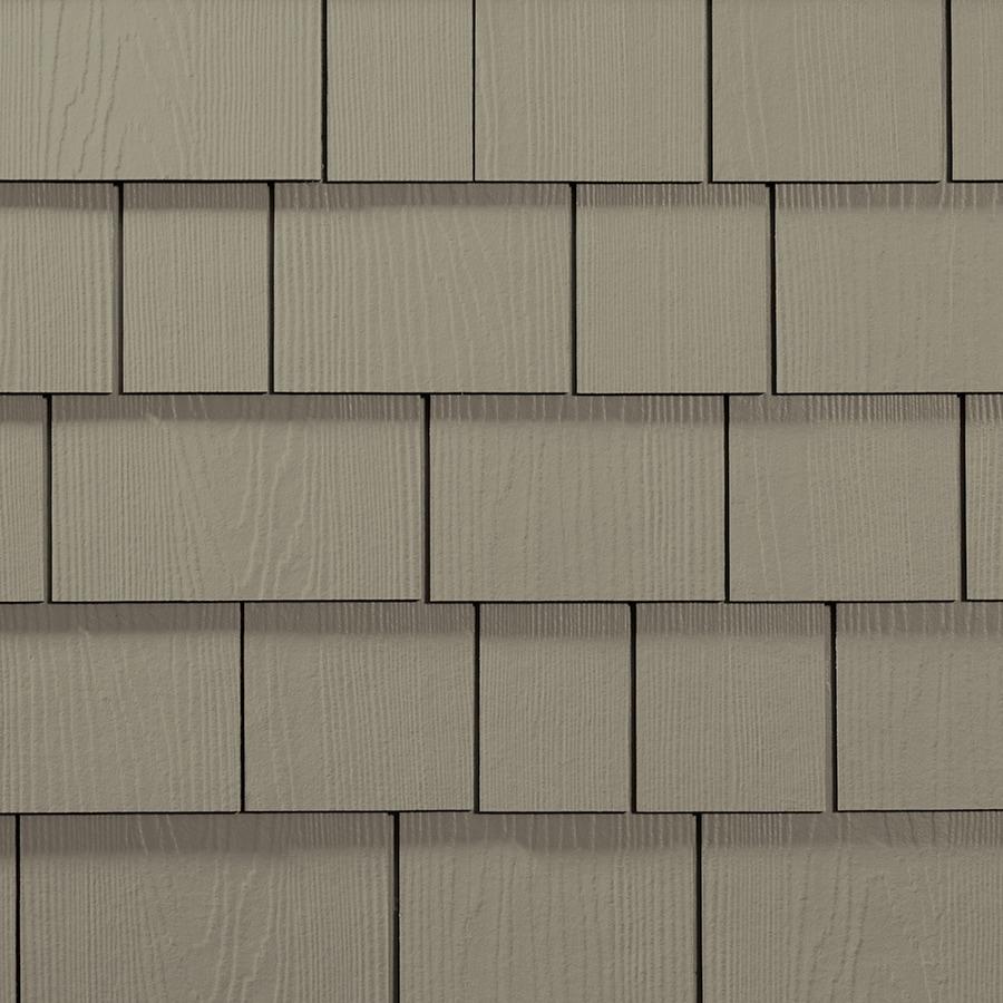 James Hardie 15.25-in x 48-in HardieShingle Primed Monterey Taupe Woodgrain Fiber Cement Shingle Siding