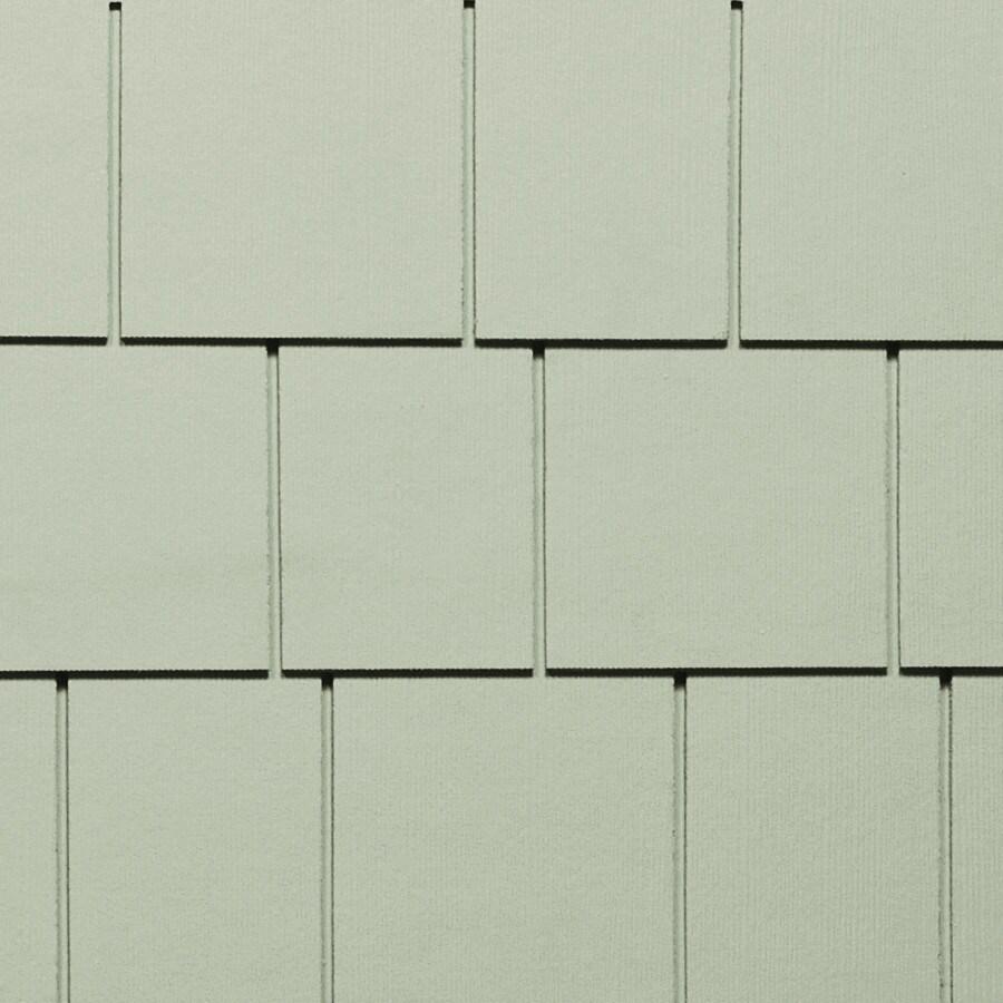 James Hardie HardieShingle 15.25-in x 48-in Primed Soft Green Woodgrain Fiber Cement Shingle Siding