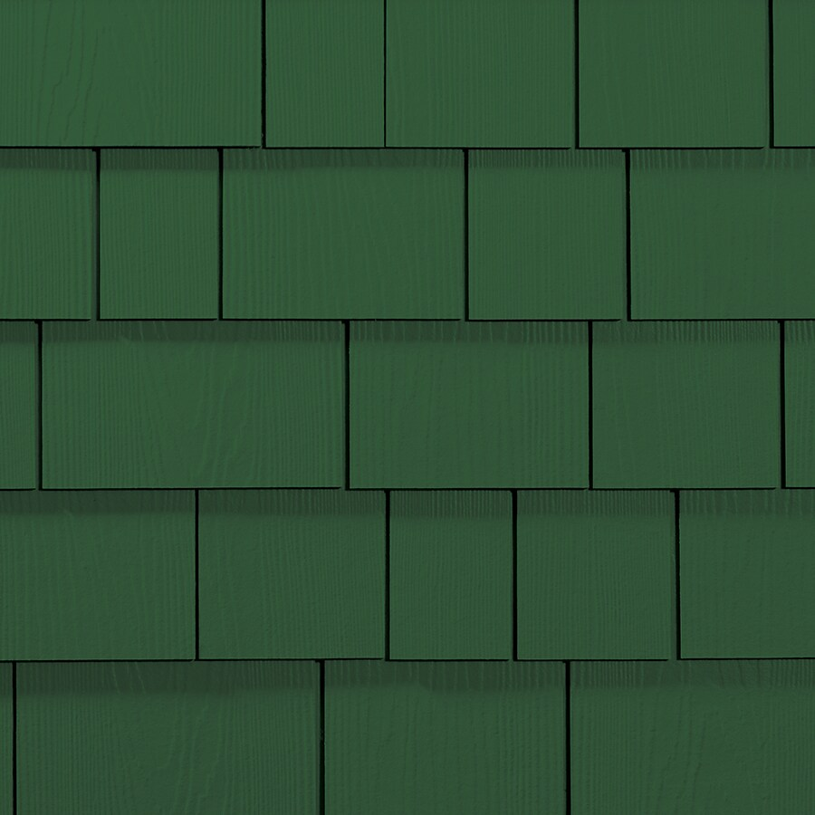 James Hardie Hardieshingle 15.25-in x 48-in Primed Parkside Pine Woodgrain Fiber Cement Shingle Siding