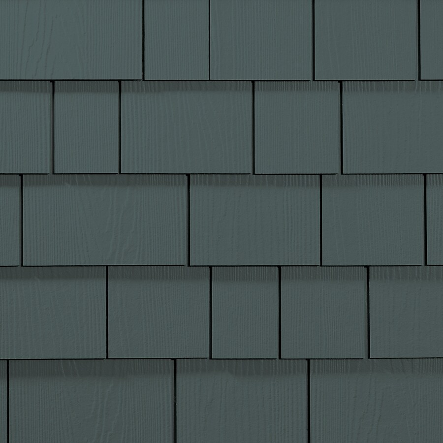 James Hardie HardieShingle 15.25-in x 48-in Primed Evening Blue Woodgrain Fiber Cement Shingle Siding