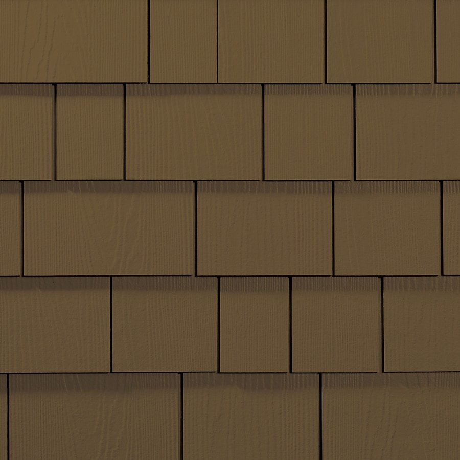 James Hardie 15.25-in x 48-in HardieShingle Primed Chestnut Brown Woodgrain Fiber Cement Shingle Siding