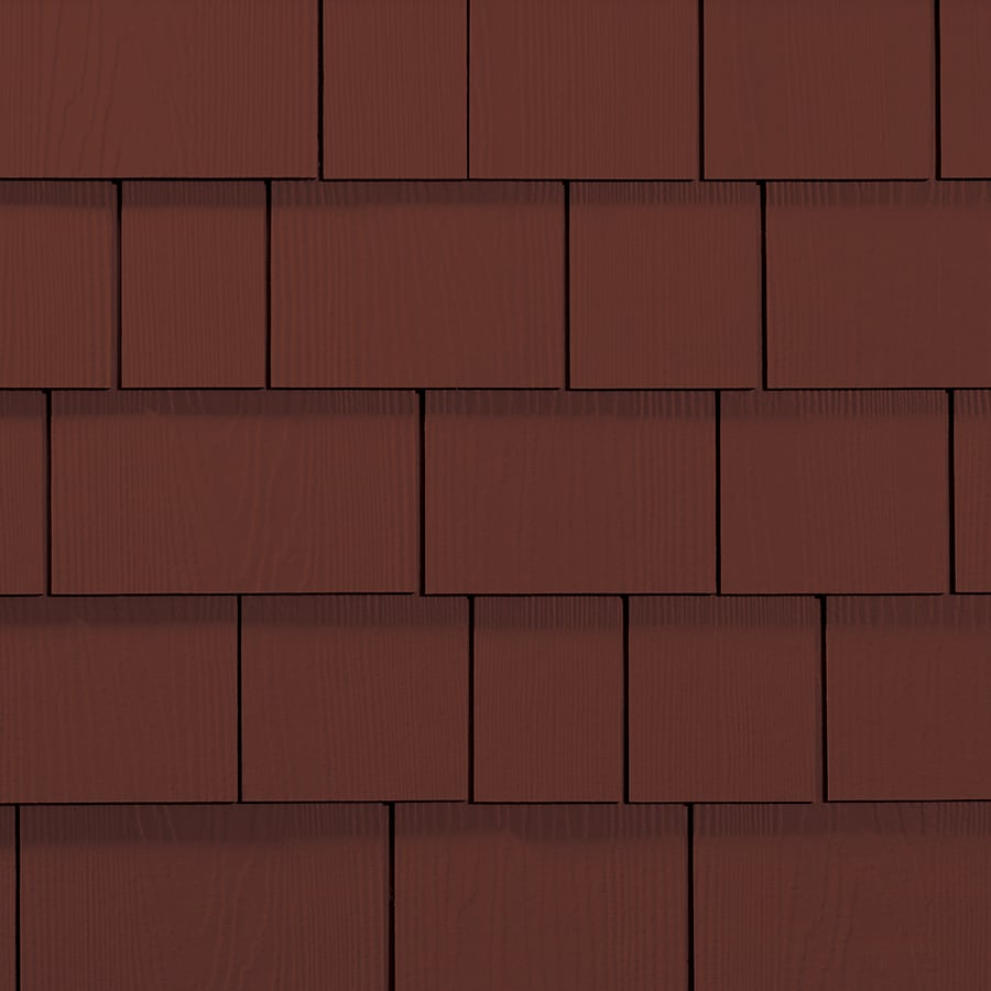 James Hardie 15.25-in x 48-in HardieShingle Primed Countrylane Red Woodgrain Fiber Cement Shingle Siding