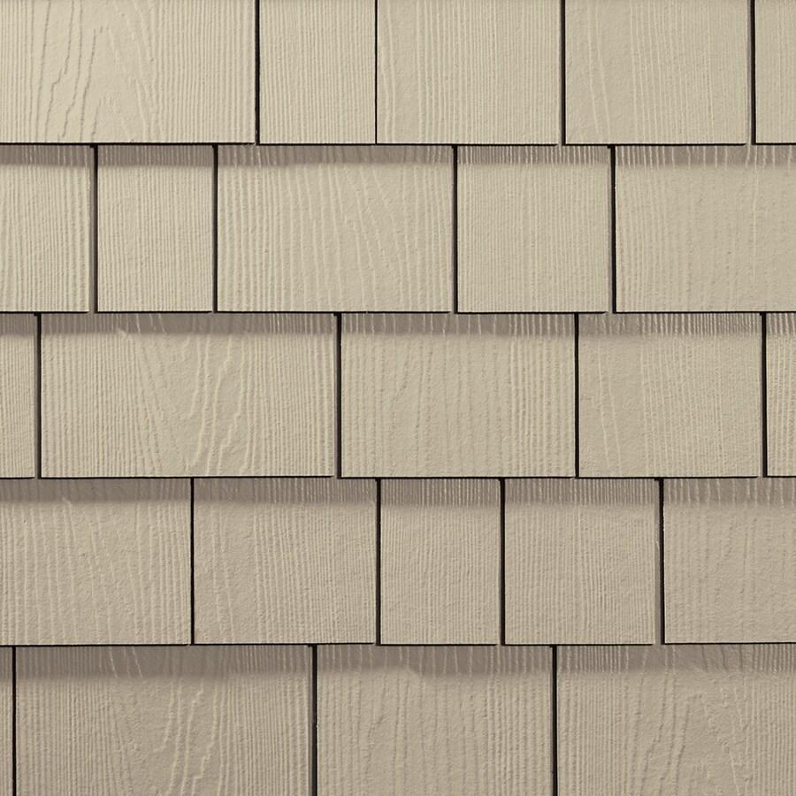 James Hardie Hardieshingle 15.25-in x 6.738-in Primed Navajo Beige Woodgrain Fiber Cement Shingle Siding