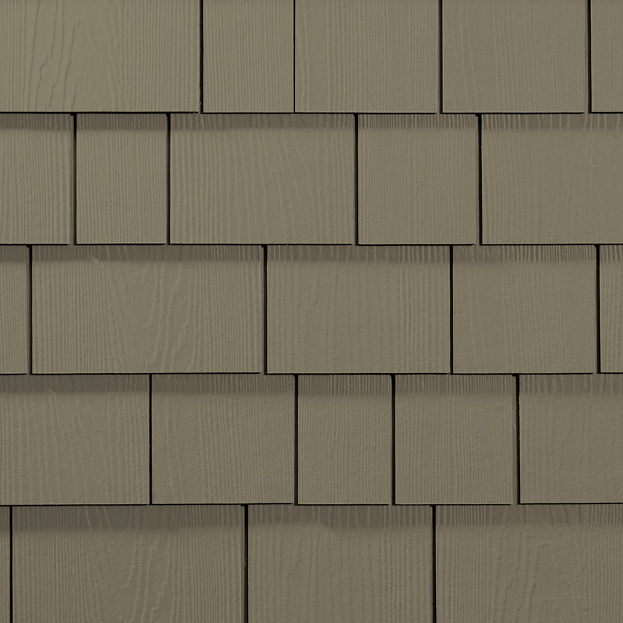 James Hardie 15.25-in x 6.738-in HardieShingle Primed Woodstock Brown Woodgrain Fiber Cement Shingle Siding