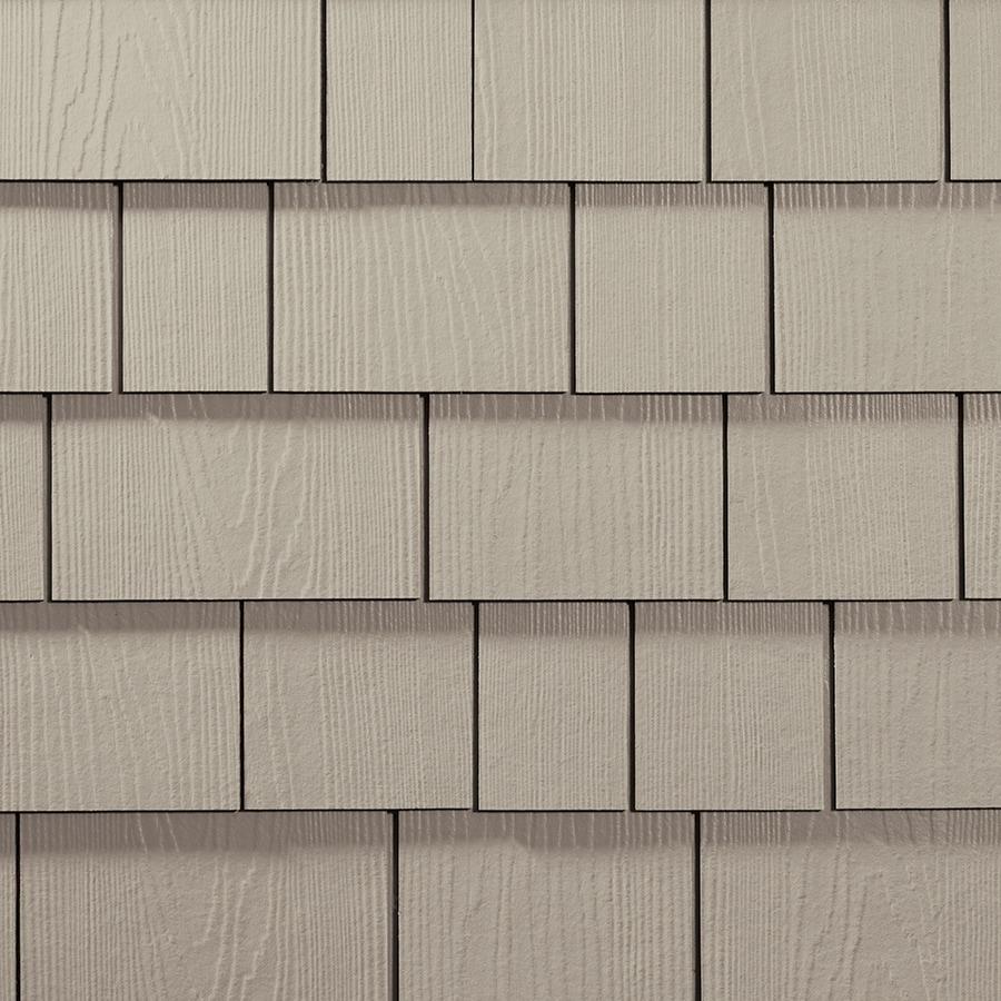 James Hardie 15.25-in x 6.738-in HardieShingle Primed Cobble Stone Woodgrain Fiber Cement Shingle Siding