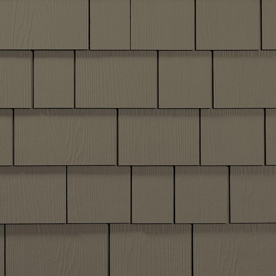 James Hardie Hardieshingle 15.25-in x 6.738-in Primed Timber Bark Woodgrain Fiber Cement Shingle Siding