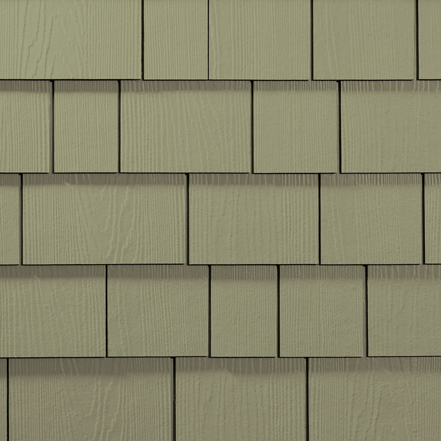 James Hardie 15.25-in x 6.738-in HardieShingle Primed Heathered Moss Woodgrain Fiber Cement Shingle Siding