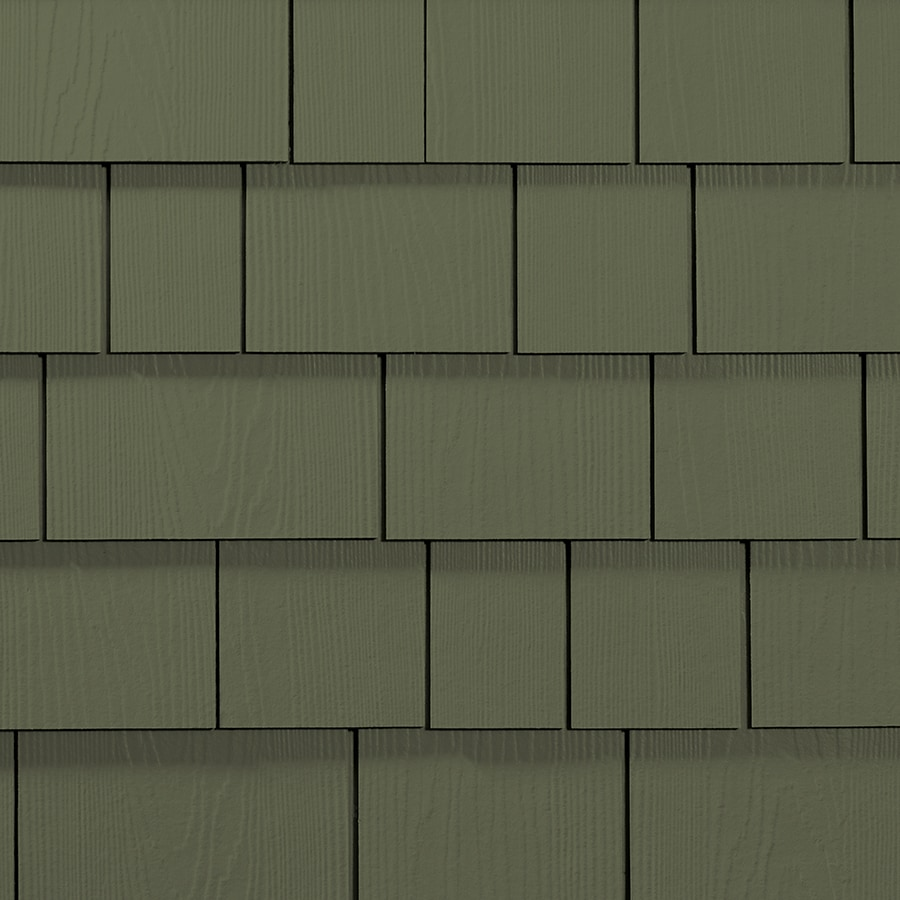 James Hardie 15.25-in x 6.738-in HardieShingle Primed Mountain Sage Woodgrain Fiber Cement Shingle Siding