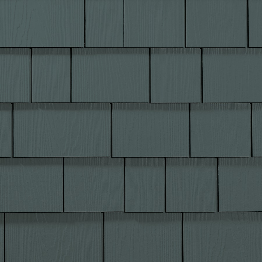 James Hardie 15.25-in x 6.738-in HardieShingle Primed Evening Blue Woodgrain Fiber Cement Shingle Siding