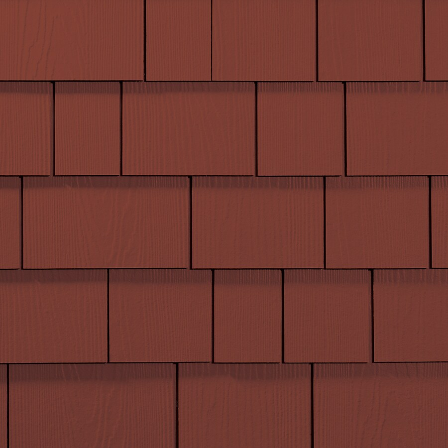 James Hardie 15.25-in x 6.738-in HardieShingle Primed Traditional Red Woodgrain Fiber Cement Shingle Siding
