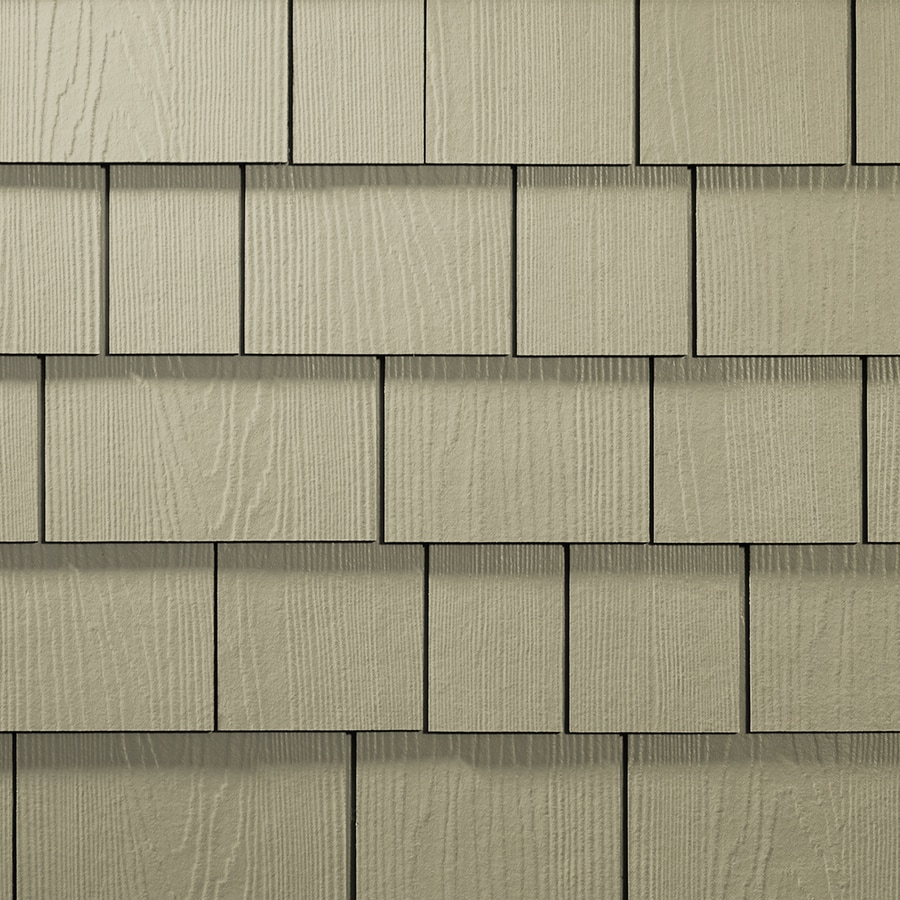 James Hardie 15.25-in x 6.738-in HardieShingle Primed Primed Woodgrain Fiber Cement Shingle Siding