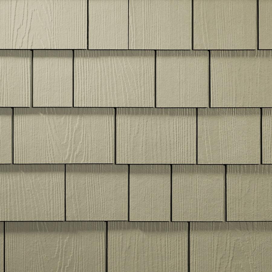 James Hardie Hardieshingle 15.25-in x 6.738-in Primed Woodgrain Fiber Cement Shingle Siding