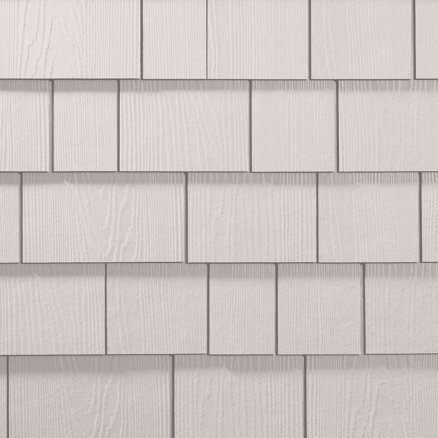 James Hardie 15.25-in x 6.738-in HardieShingle Primed Arctic White Woodgrain Fiber Cement Shingle Siding