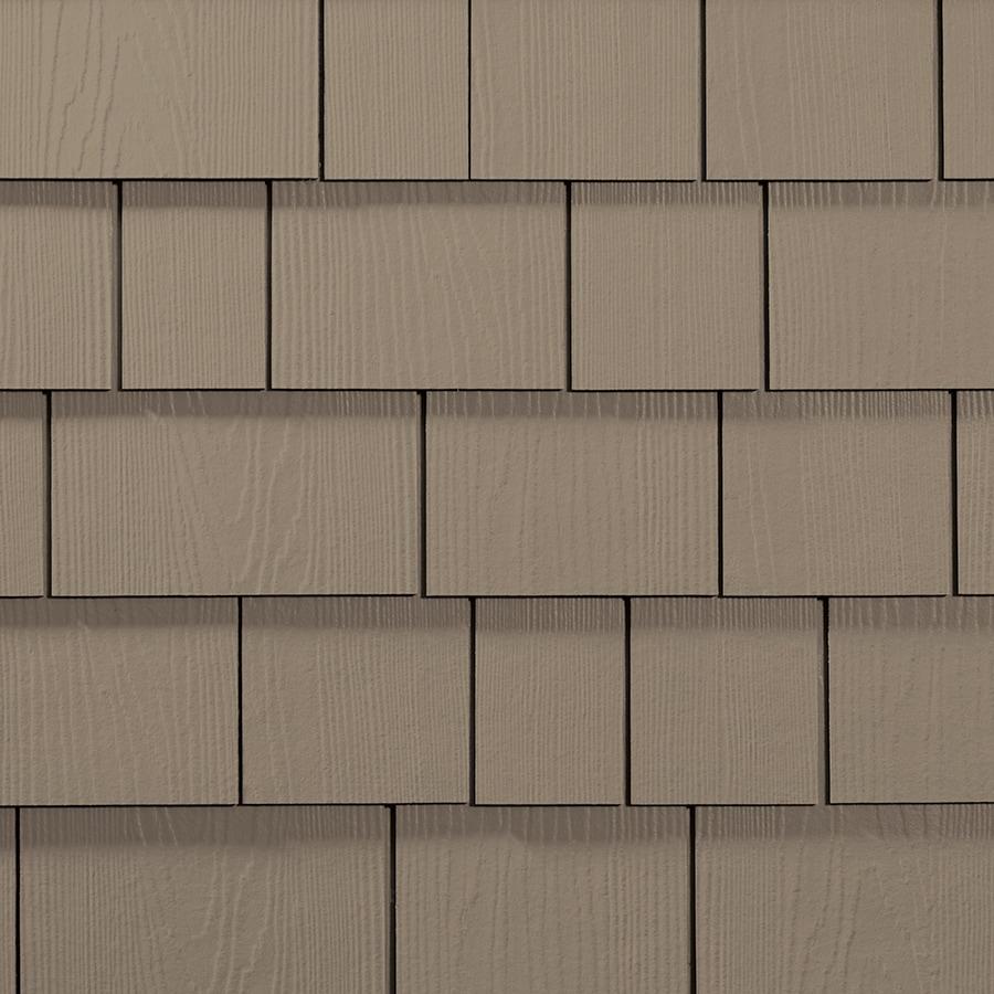 James Hardie 15.25-in x 6.738-in HardieShingle Primed Khaki Brown Woodgrain Fiber Cement Shingle Siding