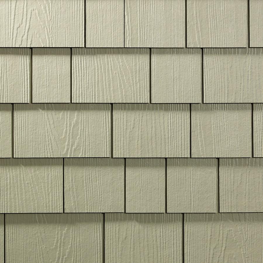 James Hardie Hardieshingle 15.25-in x 6.738-in Primed Sandstone Beige Woodgrain Fiber Cement Shingle Siding