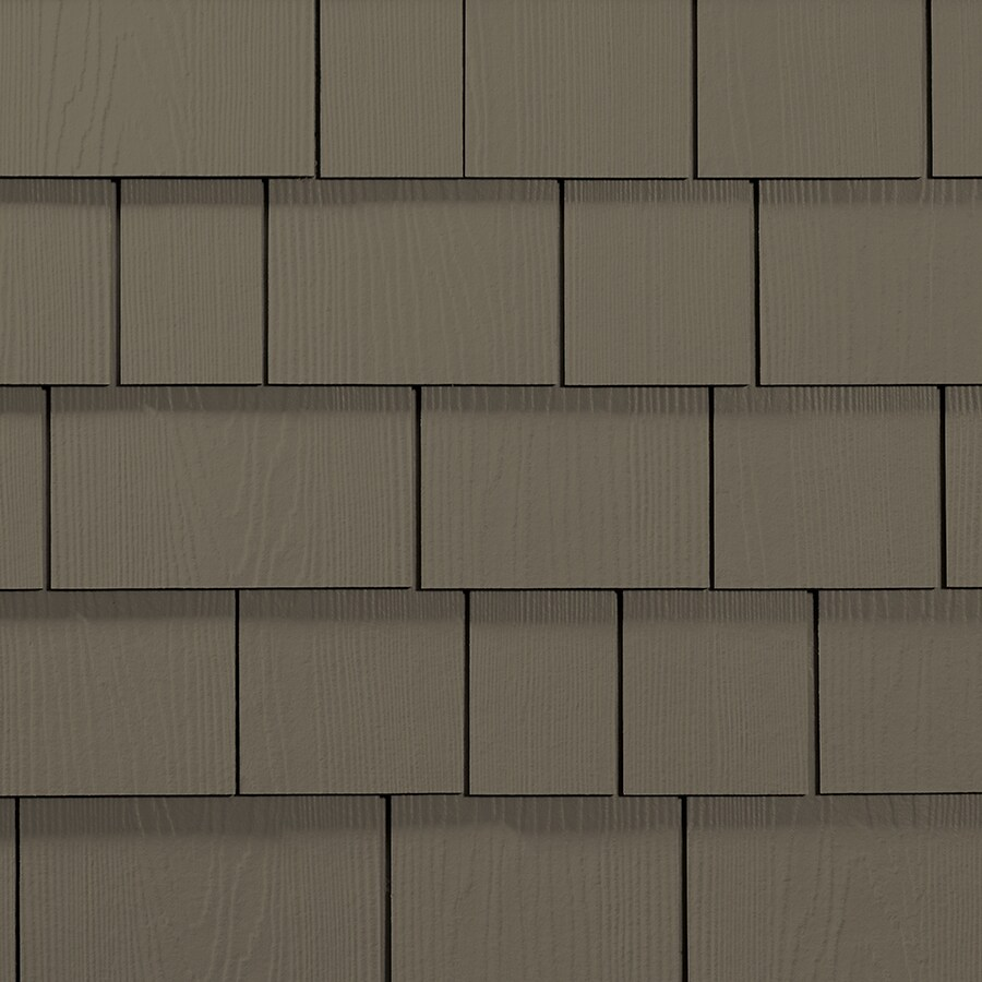 James Hardie 15.25-in x 6.738-in HardieShingle Primed Timber Bark Woodgrain Fiber Cement Shingle Siding