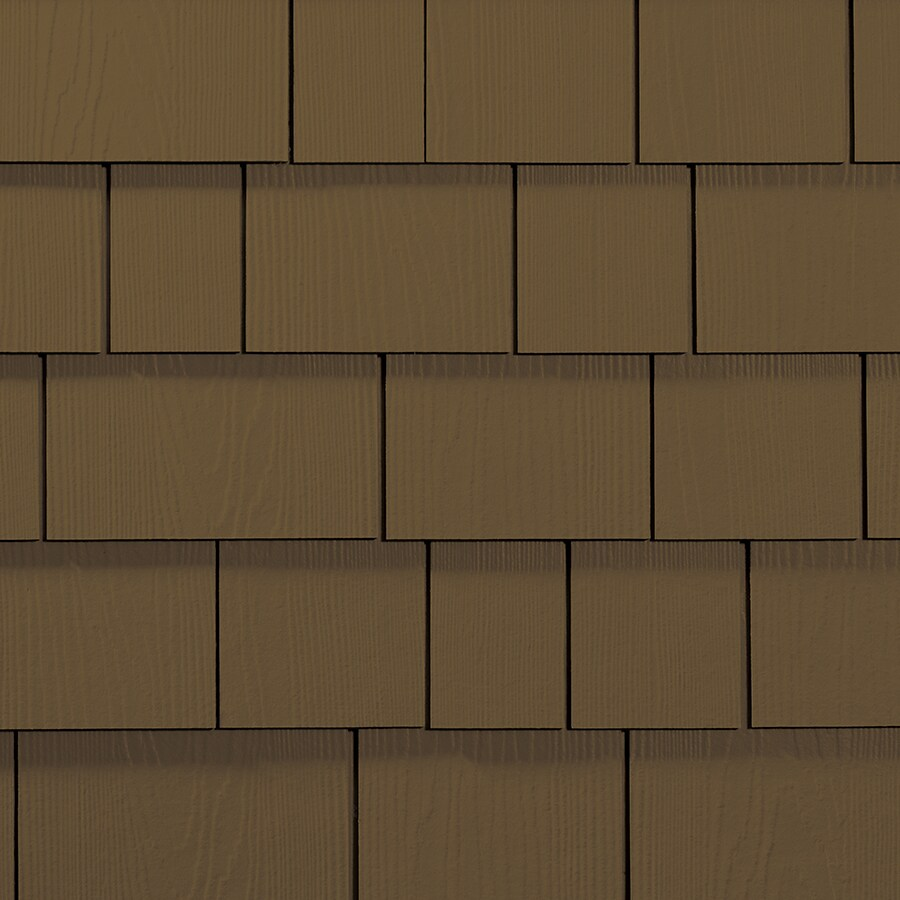 James Hardie Hardieshingle 15.25-in x 6.738-in Primed Chestnut Brown Woodgrain Fiber Cement Shingle Siding
