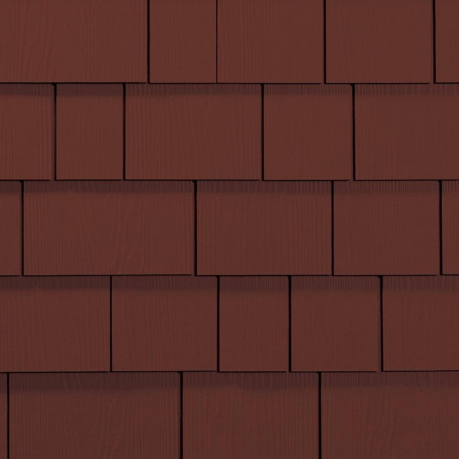 James Hardie Hardieshingle 15.25-in x 6.738-in Primed Countrylane Red Woodgrain Fiber Cement Shingle Siding