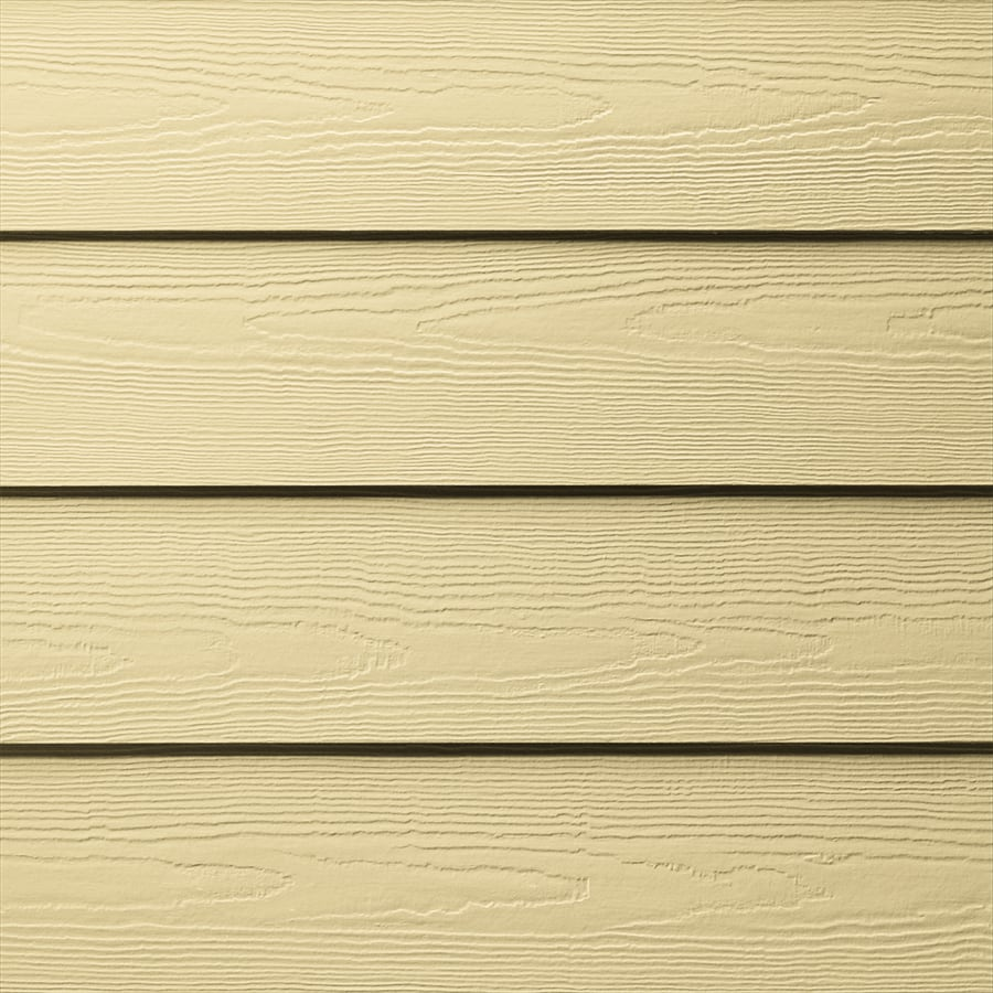 James Hardie HardiePlank Primed Woodland Cream Cedarmill Lap Fiber Cement Siding Panel (Actual: 0.312-in x 5.25-in x 144-in)