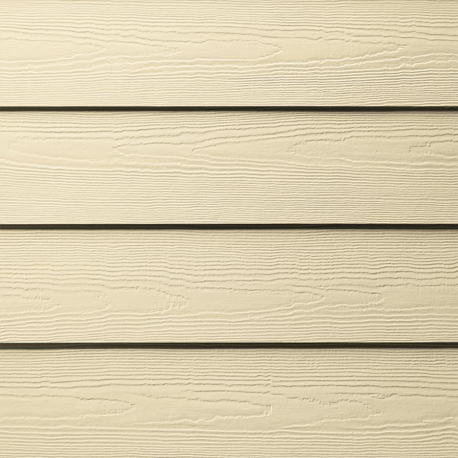 James Hardie HardiePlank Primed Sail Cloth Cedarmill Lap Fiber Cement Siding Panel (Actual: 0.312-in x 5.25-in x 144-in)