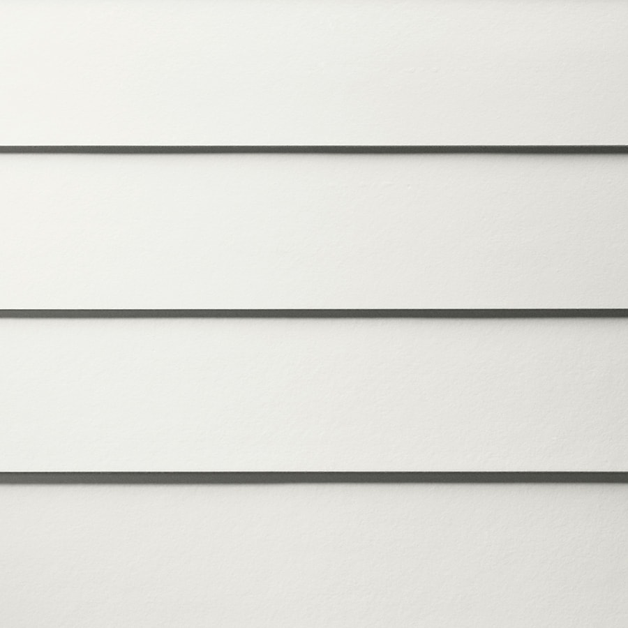 James Hardie HardiePlank Primed Arctic White Smooth Lap Fiber Cement Siding Panel (Actual: 0.312-in x 5.25-in x 144-in)